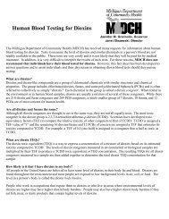 Human Blood Testing for Dioxins - University of Michigan School of ...