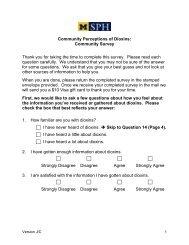 Jackson/Calhoun Survey - University of Michigan School of Public ...
