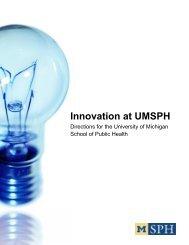 Innovation at UMSPH - University of Michigan School of Public Health