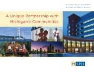 A Unique Partnership with Michigan's Communities - University of ...