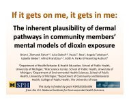 The inherent plausibility of dermal pathways in community members ...