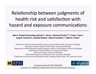 Relationship between judgments of health risk and satisfaction with ...