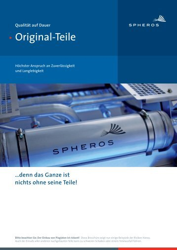 Spheros Originalteile Flyer
