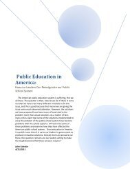 Public Education in America: - Eckerd College