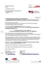 Einladung und Programm - Jugendsozialarbeit an Berliner Schulen