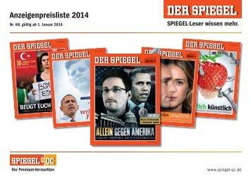 Preise 2014 - Spiegel-QC