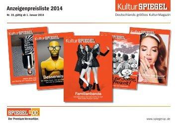 KulturSPIEGEL: Preise 2014 - Spiegel-QC