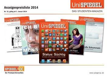 UniSPIEGEL: Preise 2014 - Spiegel-QC