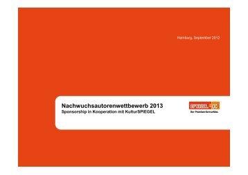 Nachwuchsautorenwettbewerb 2013 - Spiegel-QC