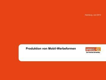 Produktion Mobile Werbeformen - Spiegel-QC