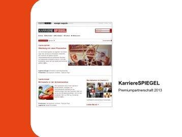 KarriereSPIEGEL: Premiumpartnerschaft 2013 - Spiegel-QC