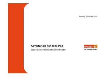 Advertorials auf dem iPad - Spiegel-QC