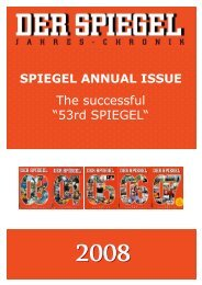 SPIEGEL Annual Issue overview