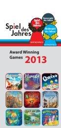 Award Winning Games 2013 - Spiel des Jahres