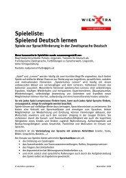 Spielend Deutsch lernen - wienXtra-spielebox