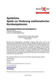 Spiele zur Förderung mathematischer Kernkompetenzen - wienXtra ...