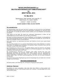Regeln Vorauscheidung 2010 - Spielezentrum Herne