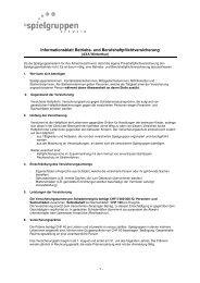 Informationsblatt Betriebshaftpflicht - IG Spielgruppen