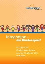 Integration – - IG Spielgruppen