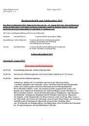 Regimentsbefehl zum Schützenfest 2013 - Spiel- und Bürgerverein ...