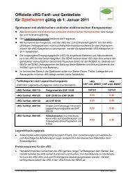 Offizielle vRG-Tarif- und Geräteliste für Spielwaren gültig ab 1 ...