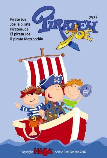Pirate Joe Joe le pirate Piraten-Joe El pirata Joe Il pirata ... - HABA