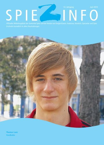 Thomas Lanz Handballer 14. Jahrgang Juni 2010 - in Spiez