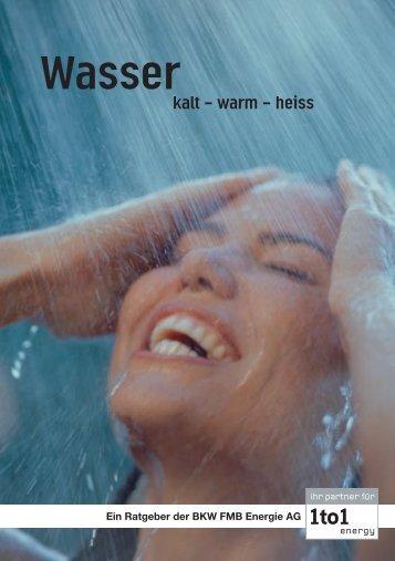 Wasser - kalt - warm - heiss - Hausinfo