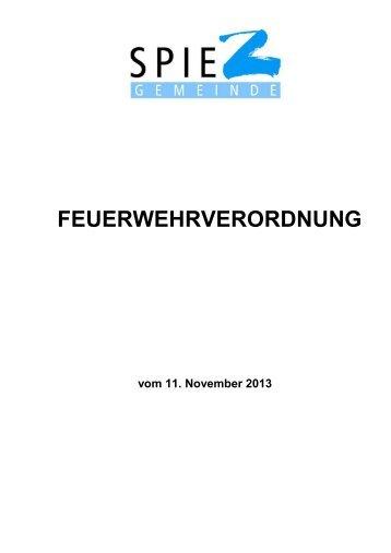 Feuerwehrverordnung gültig ab 1. Januar 2014 (PDF) - in Spiez