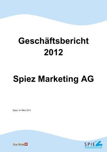 Jahresbericht SMAG 2012 - in Spiez