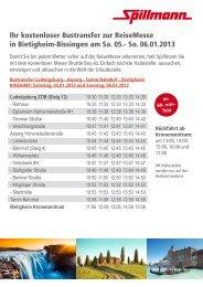 Ihr kostenloser Bustransfer zur ReiseMesse in ... - Spillmann