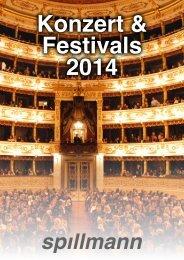 Konzerte & Festivals 2014 - Spillmann