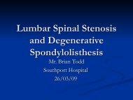 Lumbar Spinal Stenosis and Degenerative Spondylolisthesis