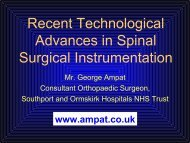 Recent Technological Advances in Spinal Surgical Instrumentation