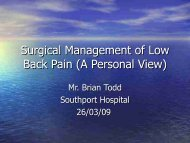 Surgical Management of Low Back Pain (A Personal View)