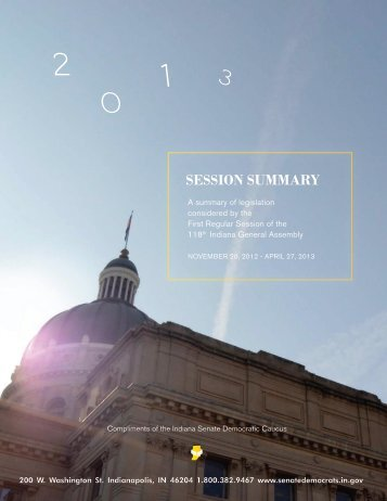 2013 Session Summary - State of Indiana
