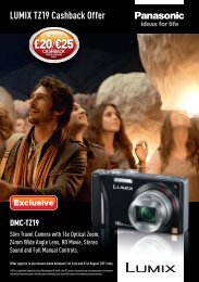 LUMIX TZ19 Cashback Offer - E-Merchant