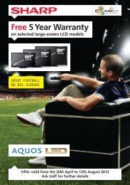 Free 5 Year Warranty - Argos
