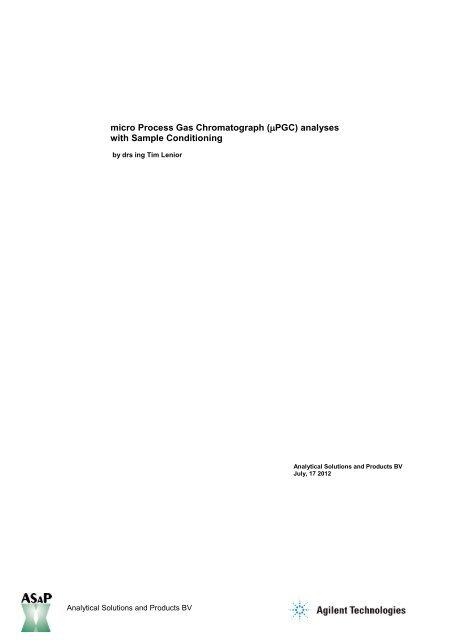 ASaP Agilent abstract process micro GC technology PDF