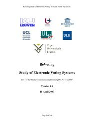 BeVoting Study of Electronic Voting Systems - Registre National