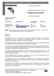 Circulaire du 22 juin 2006 : TI 120 (pdf) - Registre National