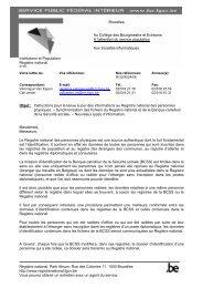 Circulaire du 19 septembre 2006 (pdf) - Registre National