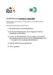 Nieuwsbrief n°2 voor eID en RR van maart 2009 (pdf)