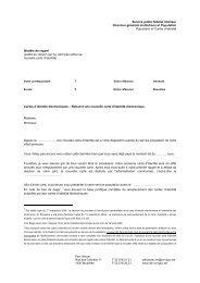 Service public fédéral Intérieur Direction ... - Registre National