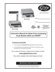 Instruction Manual for Globe Price Computing Scale Models GS30 ...