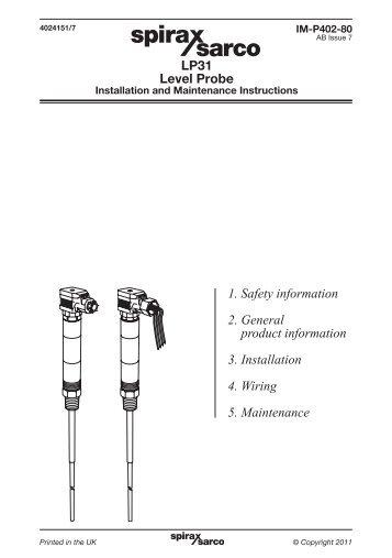 LP30 High Integrity, Self-monitoring Low Level Alarm