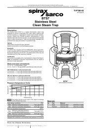 BTS7 Stainless Steel Clean Steam Trap - Spirax Sarco