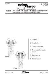 Pneumatic Actuators Types - PN5500, PN5600 ... - Spirax Sarco