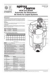 AE36 and AE36A Automatic Air Eliminators/Air Vents ... - Spirax Sarco