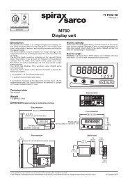 M750 Display Unit - Spirax Sarco